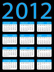Calendar 2012 Blue