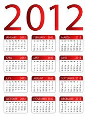 Calendar 2012 Red