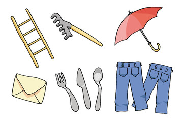 objects with umbrella