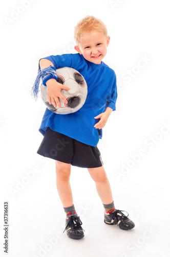 Junger Fussballspieler