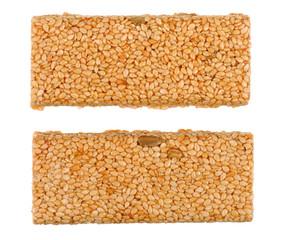 Honey bars with sesame seeds