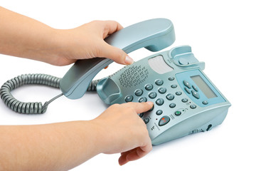 Telephone and hand