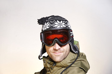 Snowboarder with Beanie and Glasses