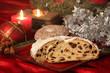 Christstollen zur Weihnachtszeit