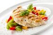 Grilled turkey fillet and vegetables