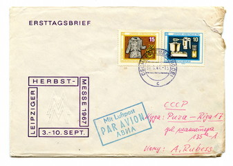 """Vintage german first day cover """"Leipziger Herbstmesse"""""""