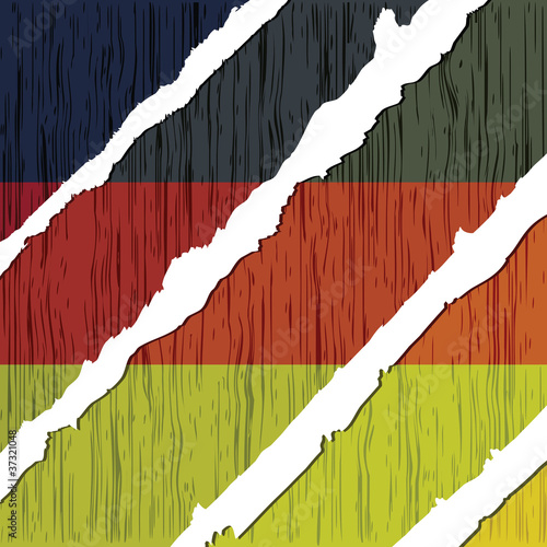 german flag wooden texture