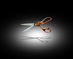 spotlit scissors