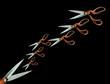 scissors concept black