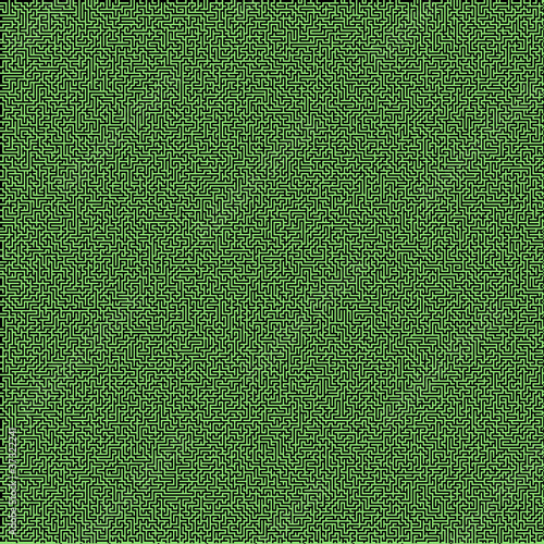Green embossed labyrinth