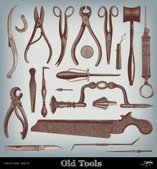 Engraving vintage Tools.