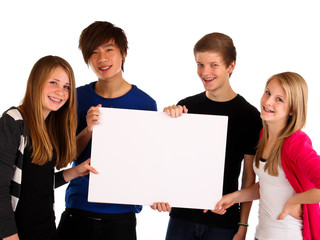 19.11.11 Teenager mit Schild