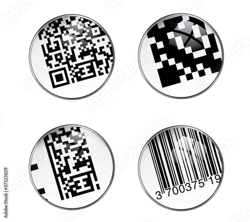 mobiltag flashcode et code barre gencode de kotoyamagami fichier vectoriel libre de droits. Black Bedroom Furniture Sets. Home Design Ideas