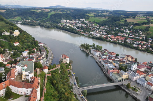Passau - Dreiflüsse-Stadt / Three-River-City - DE, Aug 2011