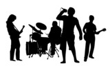 Rockband Silhouette
