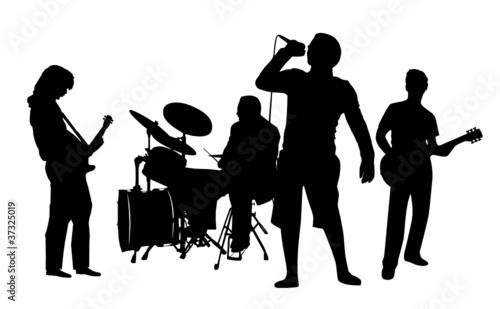 Rockband Silhouette - 37325019
