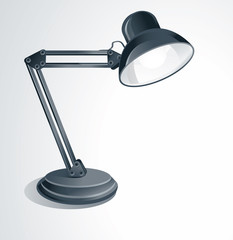 vector desk lamp