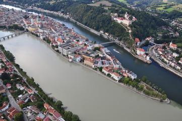 Passau - Dreiflüsse-Stadt / Three-River-City - DE, Aug 2011