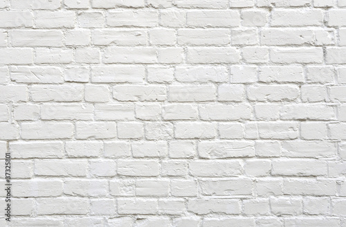 Wall White brick wall