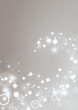 Silver background with circle light effects and shiny stars