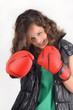 Challenge - Jeunne fille et gants de boxe