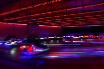 dodgem cars in motion