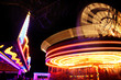 fairground rides at night