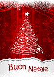 Fototapety Cartolina Buon Natale