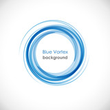 Blue Vortex background # Vector