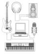 Vector illustration of home media centre
