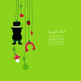Hanging Chimney Sweeper & Symbols New Year´s Eve poster