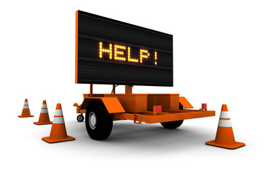 HELP! - Construction Sign Message