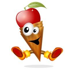 gelato frutta cartoon