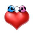 cuore coccinelle 2