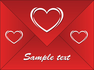 red envelope with hearts