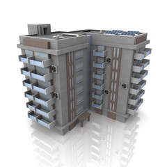 3d living house
