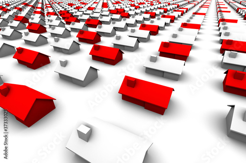 Hundreds of Houses, Some Red