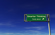 Smarter Thinking - Freeway Exit Sign