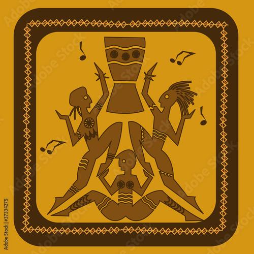 danse tribale indigène sauvage exotique