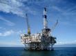 Leinwanddruck Bild - Offshore Oil Rig Drilling Platform