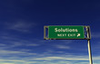 Solutions Freeway Exit Sign