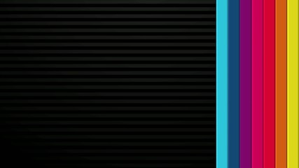 Rainbow Bars on Black Transitions HD
