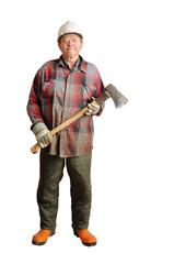 Senior lumberjack