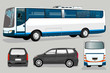 mini bus and bus