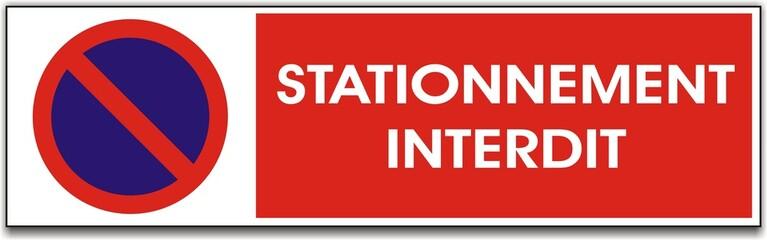 pancarte stationnement interdit