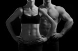 man and a woman in the gym - 37338254