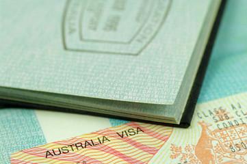 passport stamp and visa