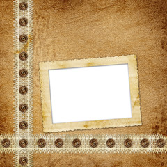 The vintage background with elegance border.