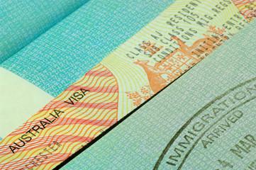 australian visa and passport