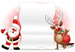 Babbo Natale e Renna Sfondo-Santa Claus and Reindeer Background